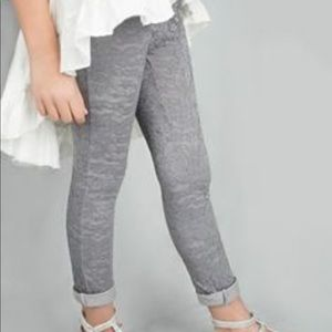 NWT Joyfolie Lace Leggings in Charcoal